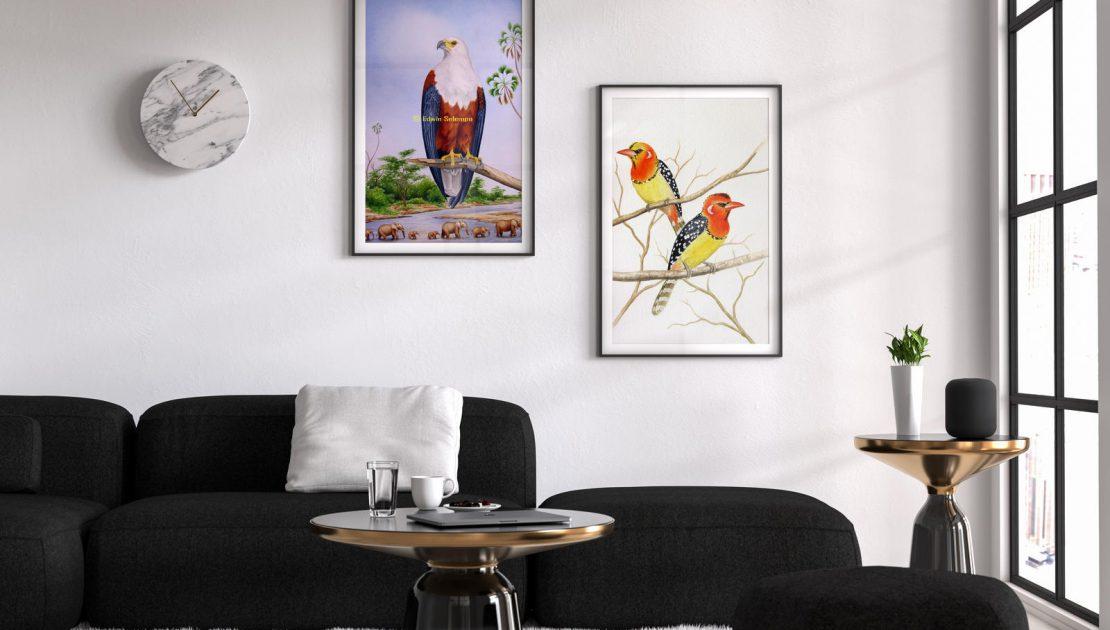 Edwin Selempo Birds Paintings